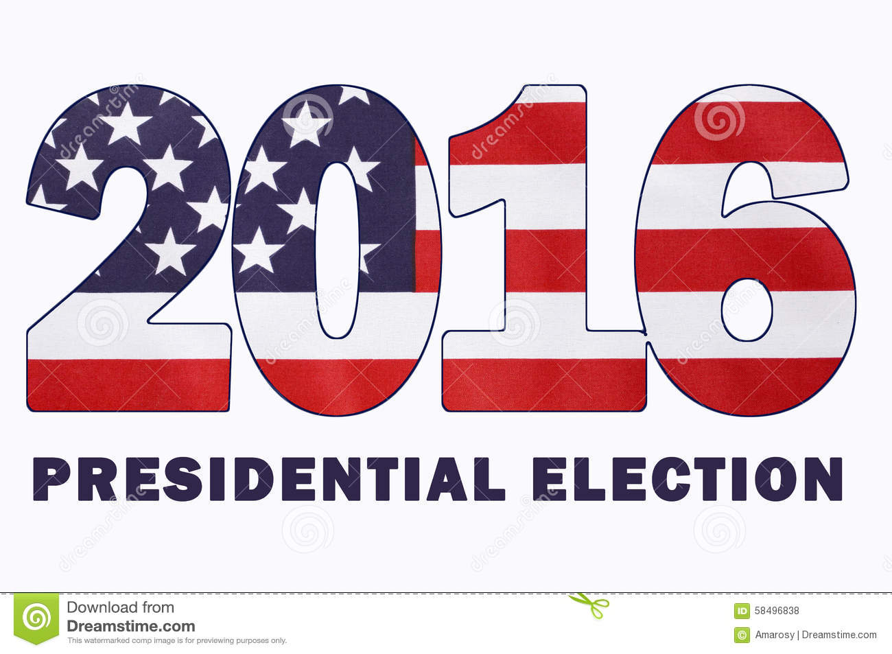 USA 2016 Presidential Election with image of Stars and Stripes in ...