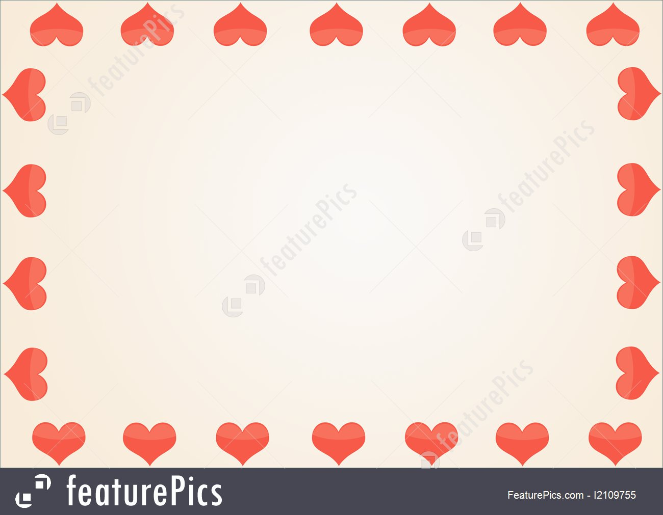 Templates: Framework From Red Hearts - Stock Image I2109755 at ...