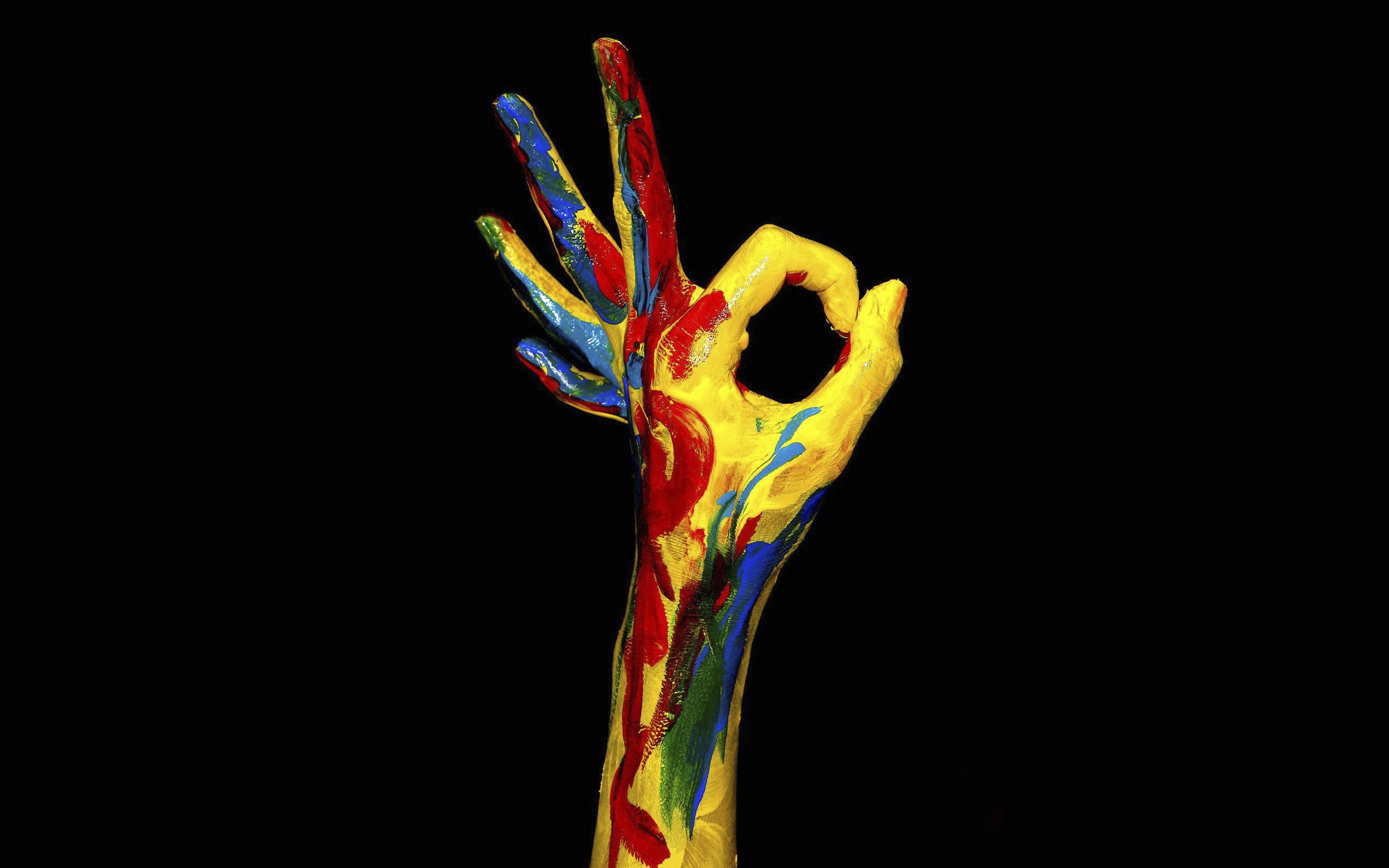 Multicolor hands wallpaper | 2560x1600 | 12633 | WallpaperUP