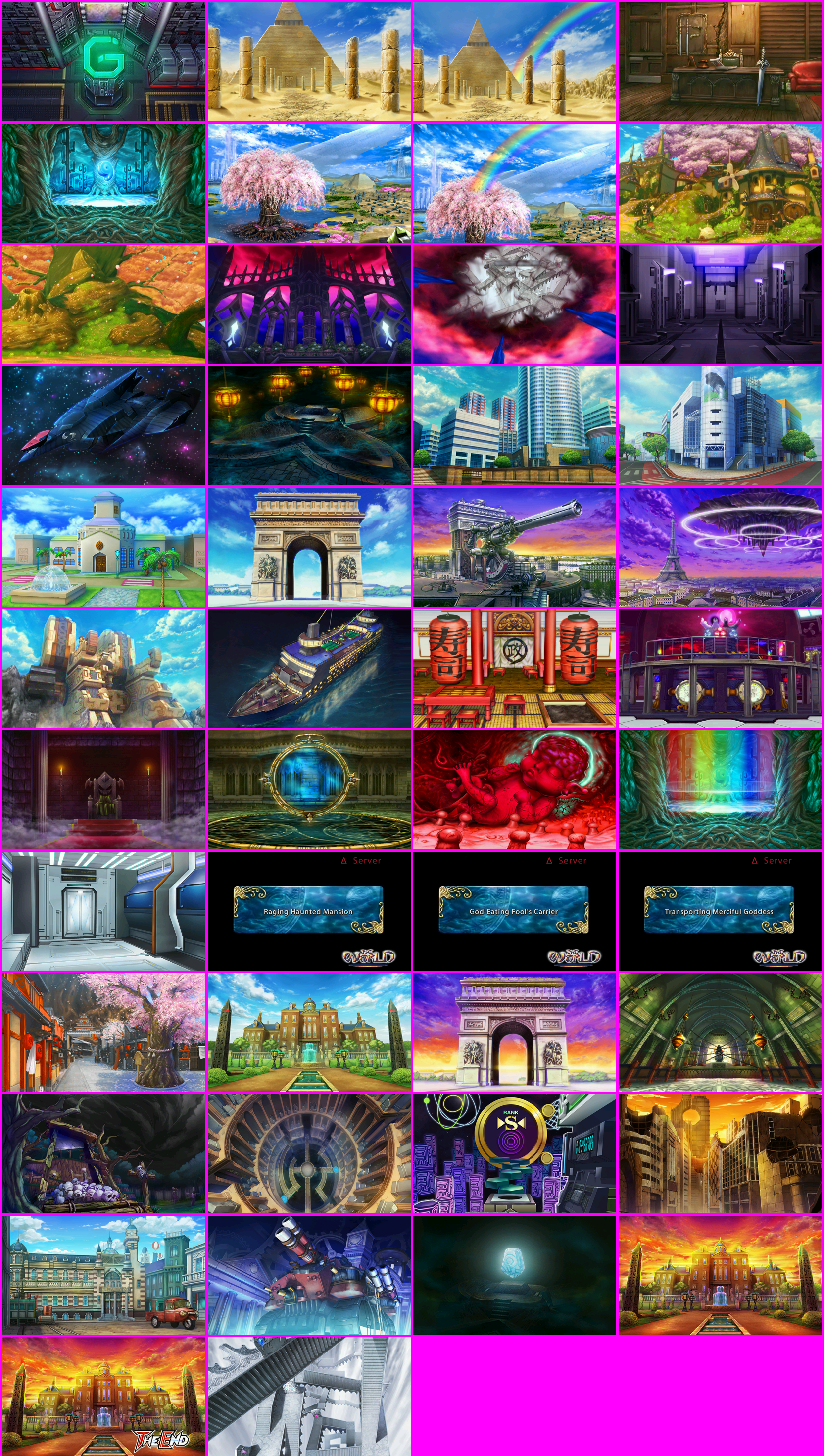 ... Resource - Full Sheet View - Project X Zone - Event Backgrounds