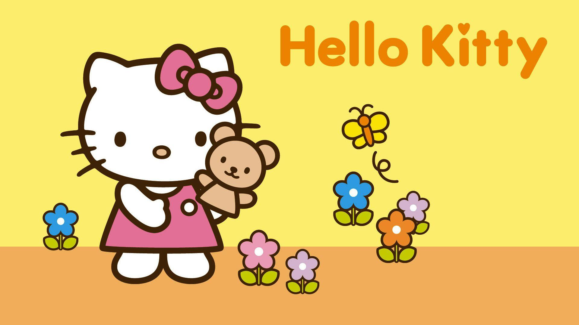 Hello Kitty With Bunny Wallpaper HD #5896 Wallpaper | Wallpaper ...