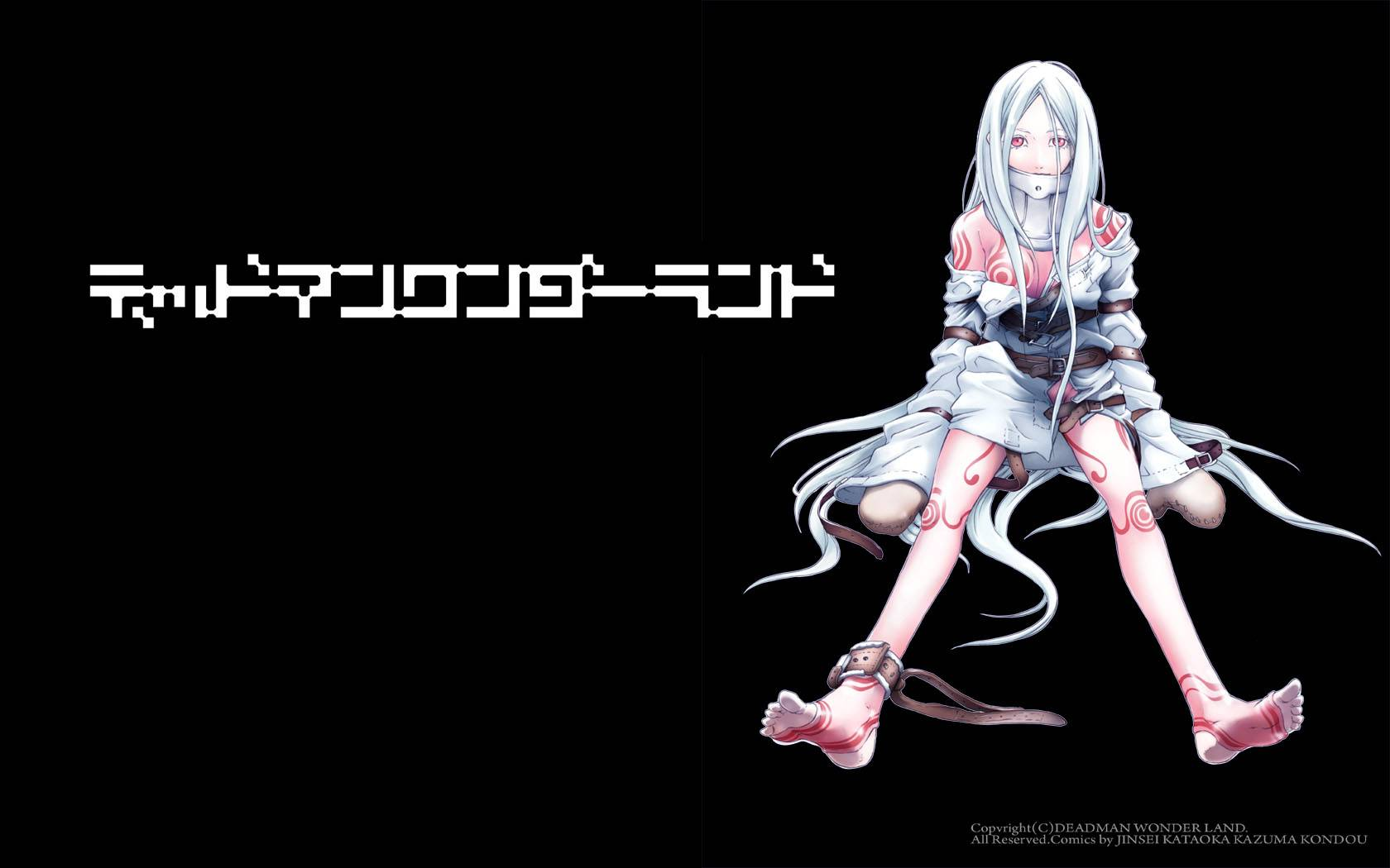 shiro black wallpaper Deadman Wonderland Wallpaper