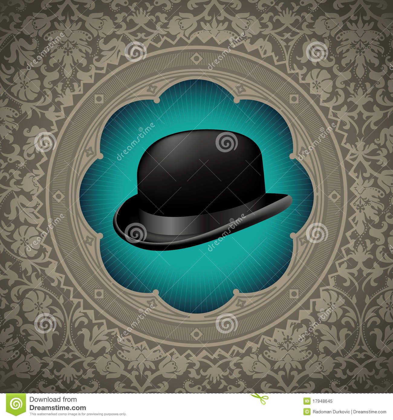 Bowler Hat Background. Royalty Free Stock Photo - Image: 17948645