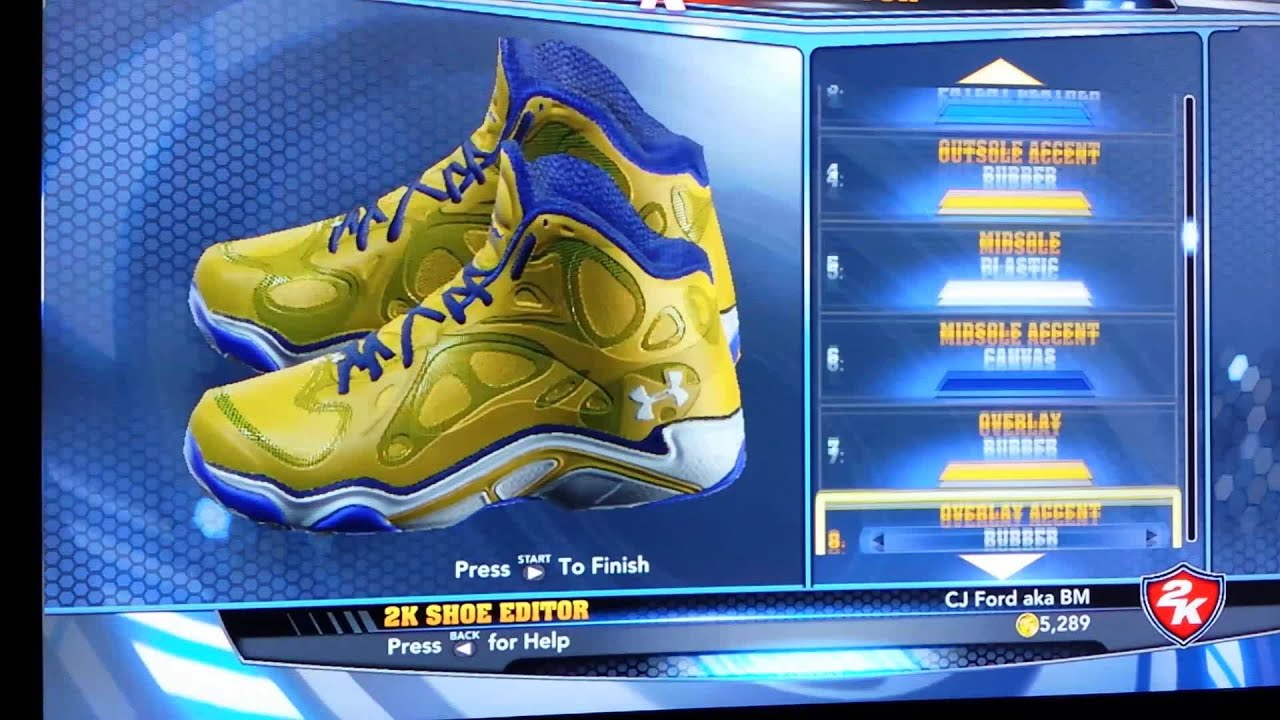 UnderArmour Anatomix Stephen Curry PE for NBA 2K14 - YouTube