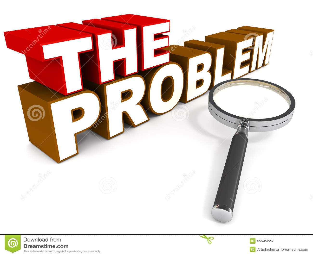 The Problem Royalty Free Stock Photo - Image: 35545225