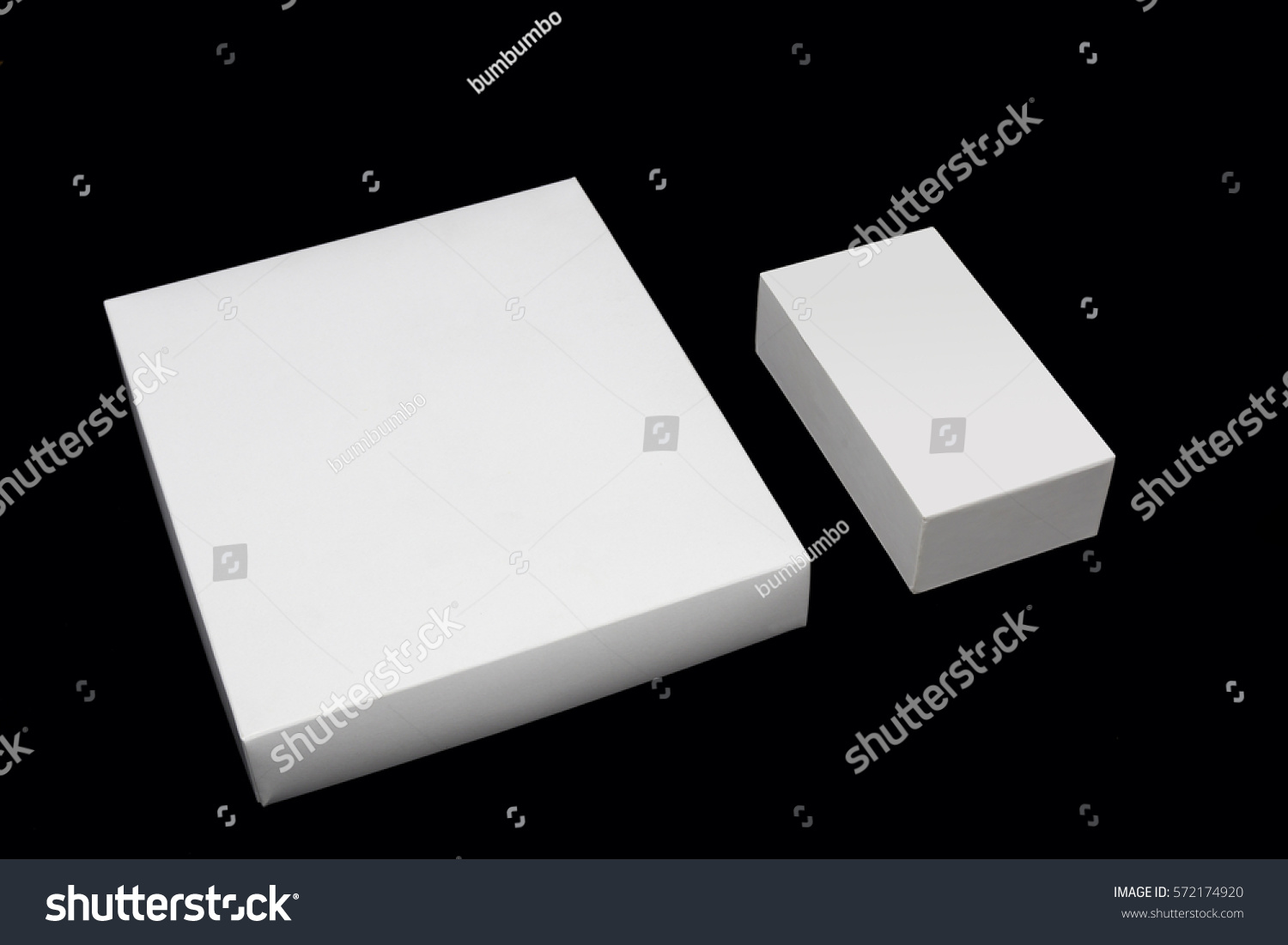 White Box On Black Background Stock Photo 572174920 - Shutterstock