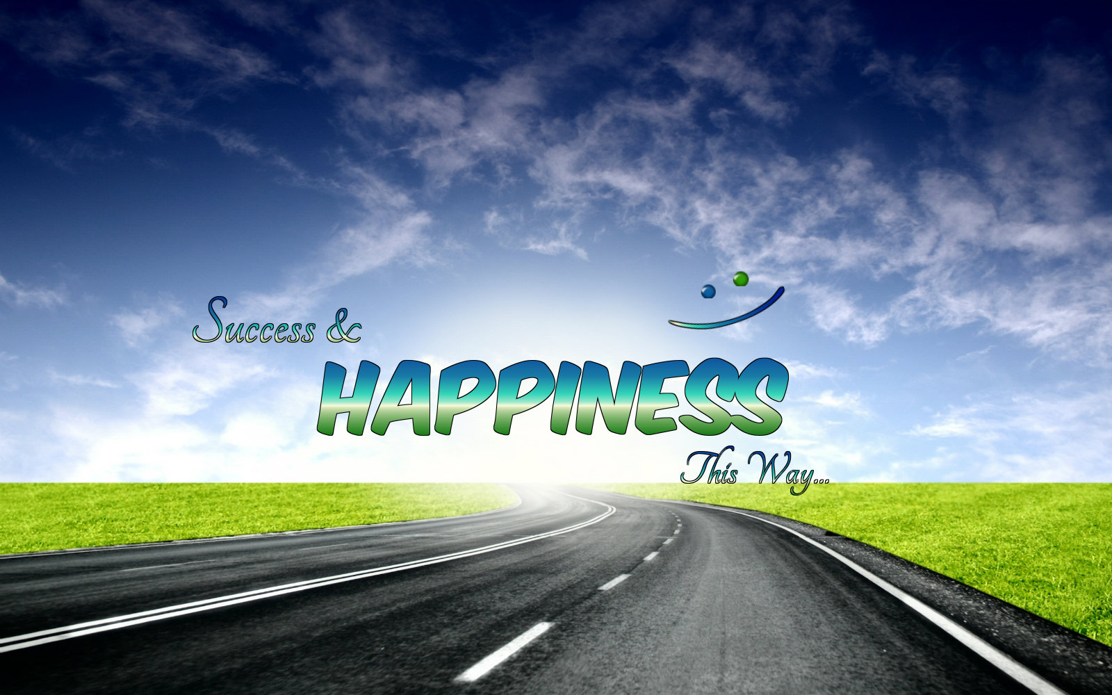 Happiness Wallpaper With Quote
