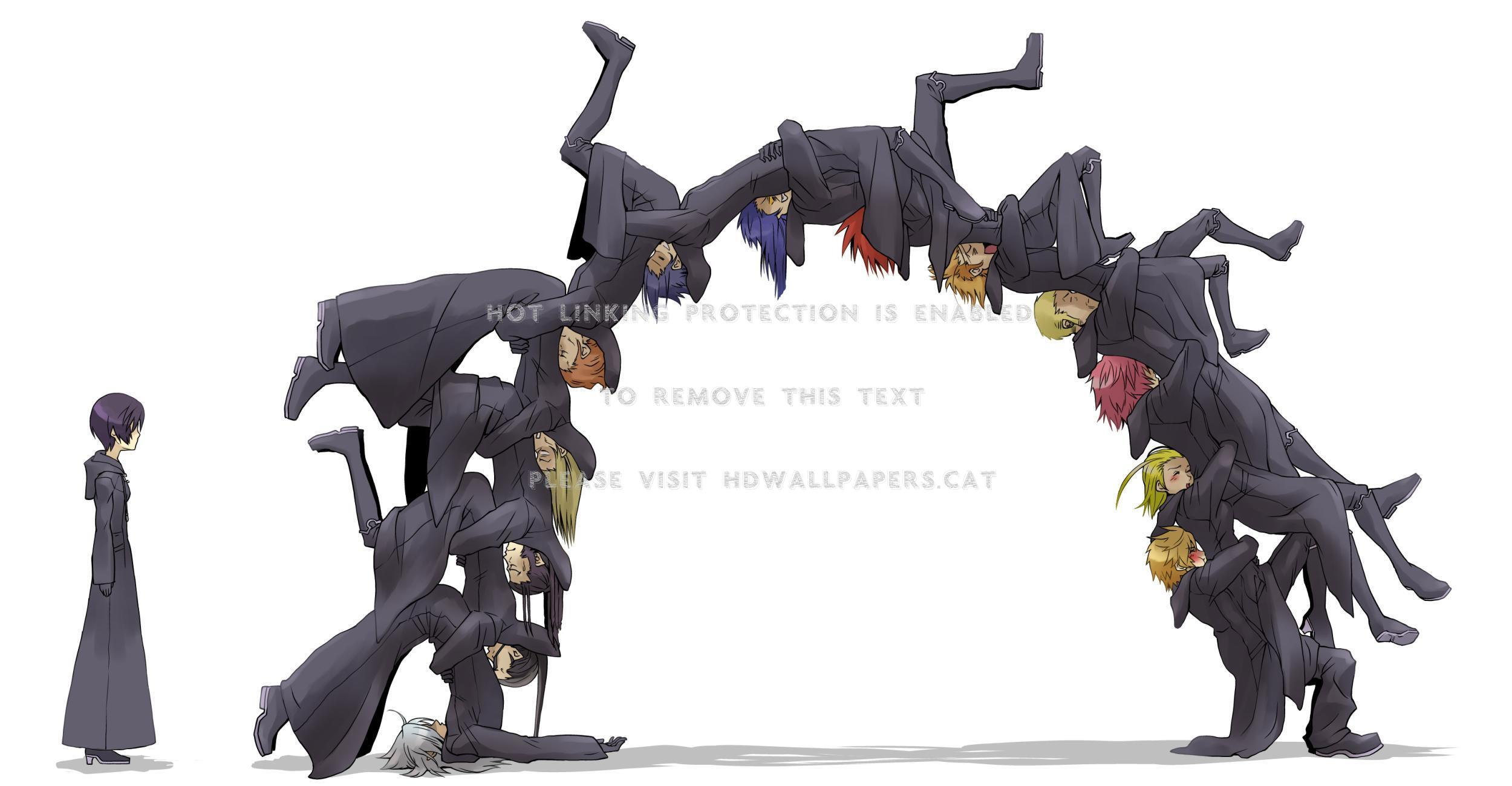 What are they doing?!?! roxas xion xaldin wallpaper
