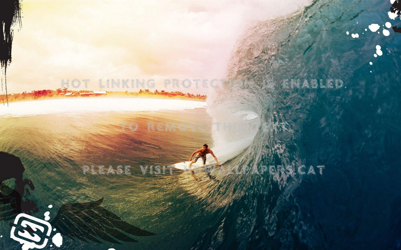 Quite a ride sports surfing breakers water wallpaper