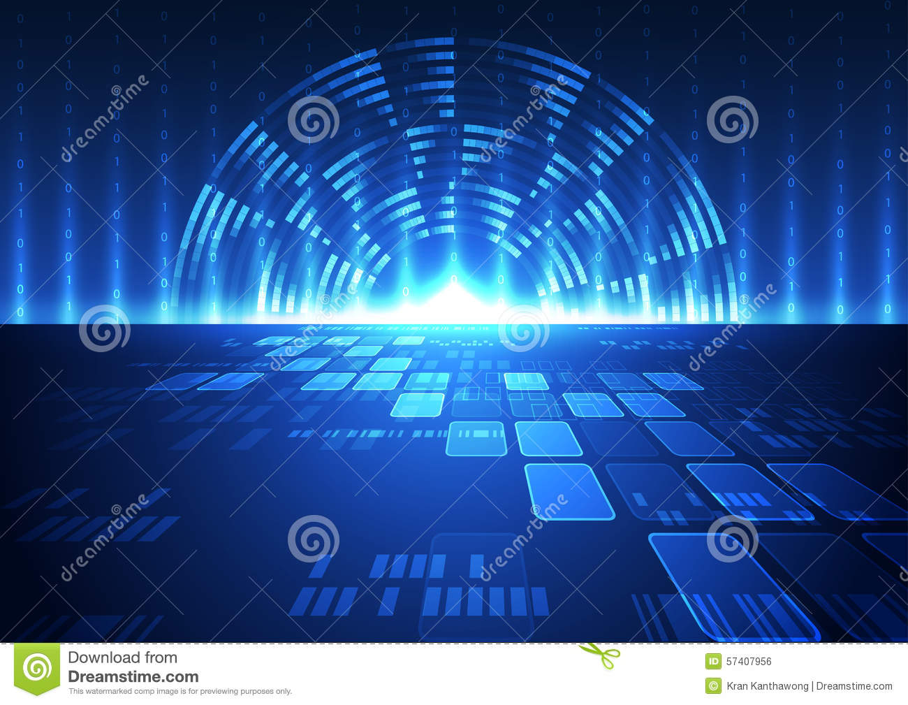 Abstract Vector Digital Future Technology Background Illustration ...