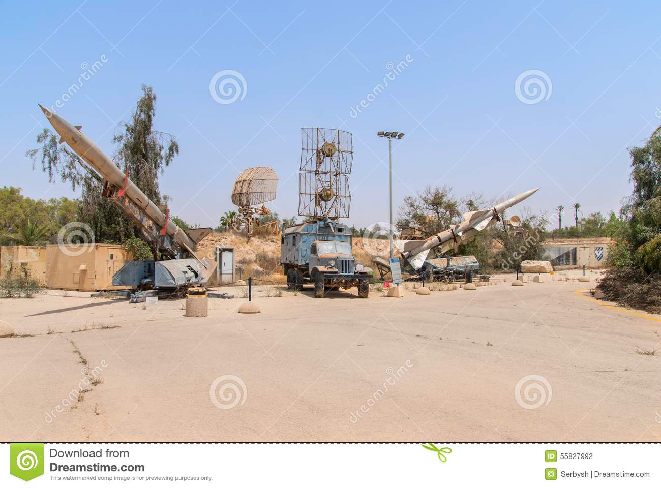 Old Russian Antiaircraft Defense Rocket Launcher Missiles Isolat ...