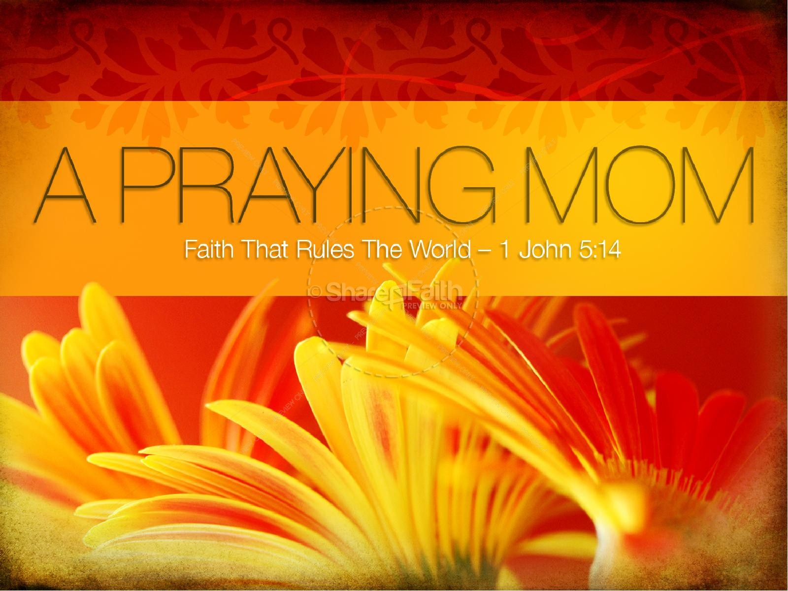 Praying Mom PowerPoint Template Mothers Day PowerPoints
