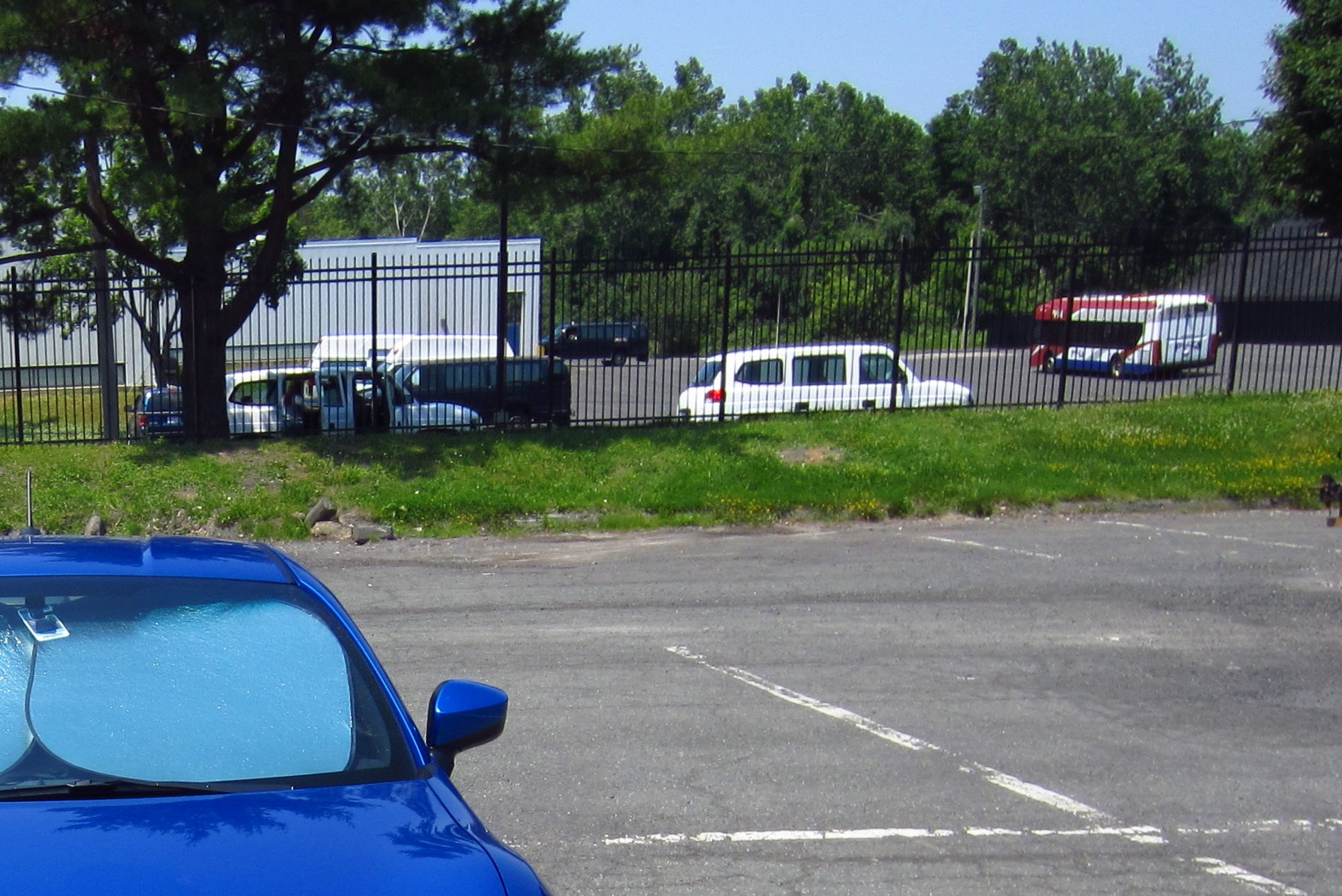 ... . That's a bus depot and enterprise rental agency behind the fence