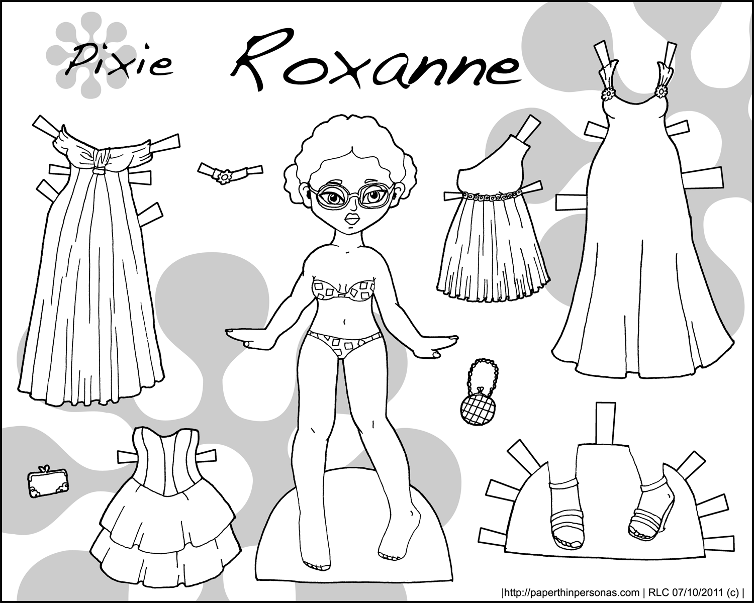 PAPER DOLL CLOTHES - Kids model - Coloring pages, drawings - HD ...