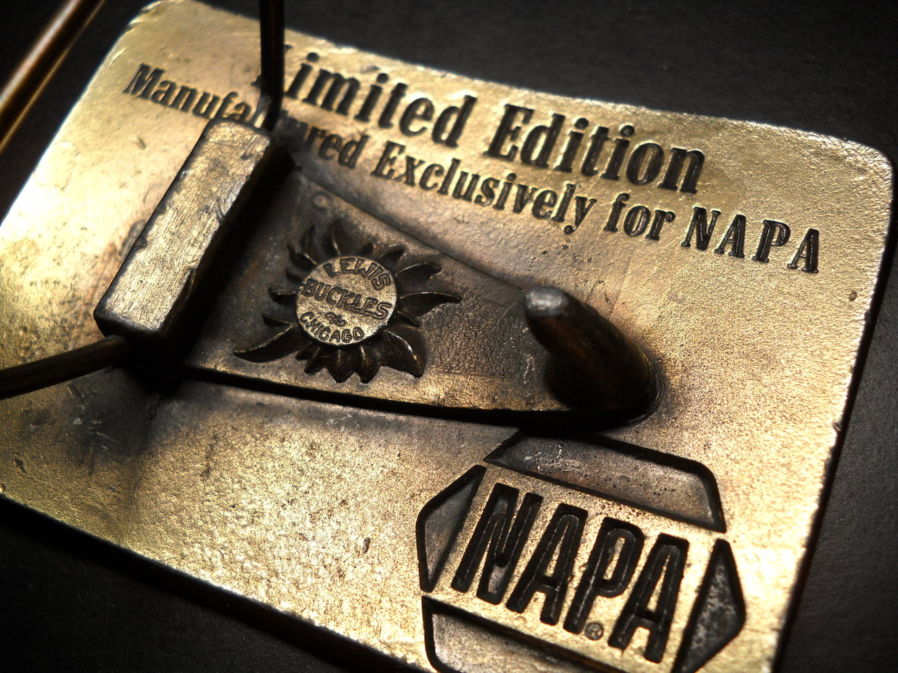 NAPA National Automotive Parts Association Belt Buckle Lewis Buckles ...