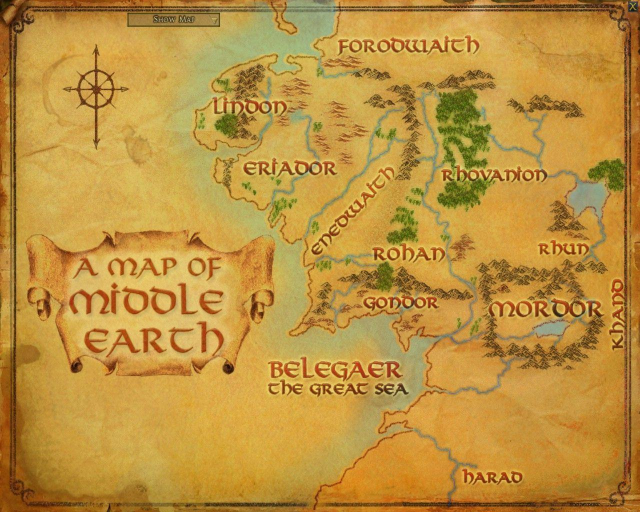 Images For > Lord Of The Rings Map Of Middle Earth Wallpaper