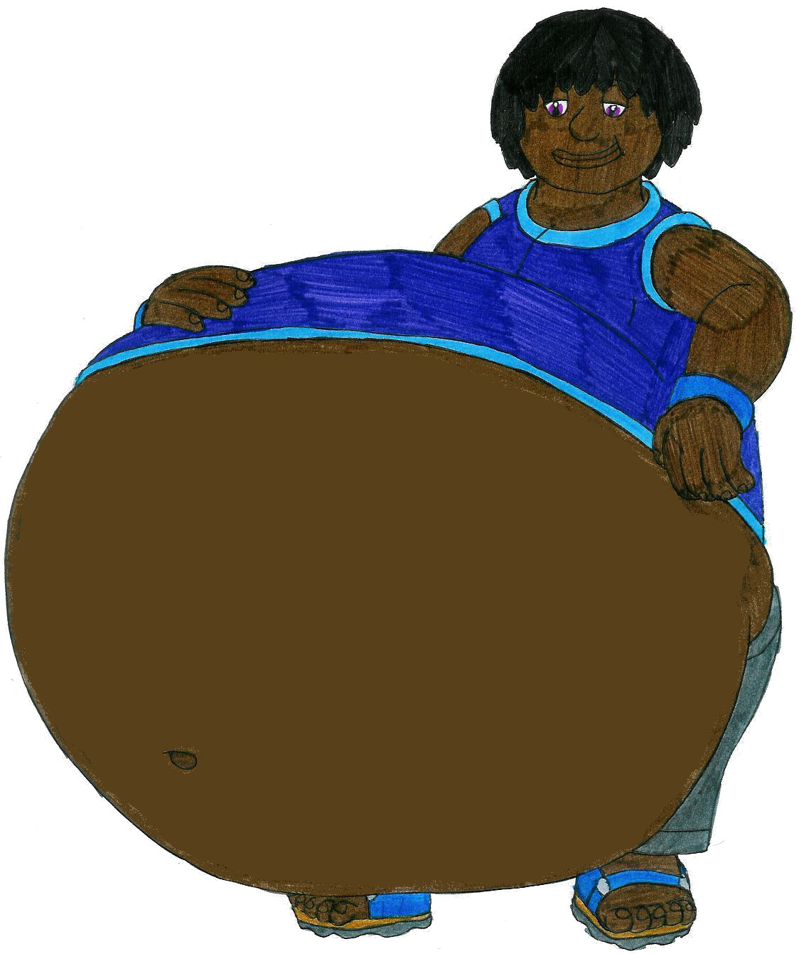 Andys BIG Belly by MCsaurus on DeviantArt