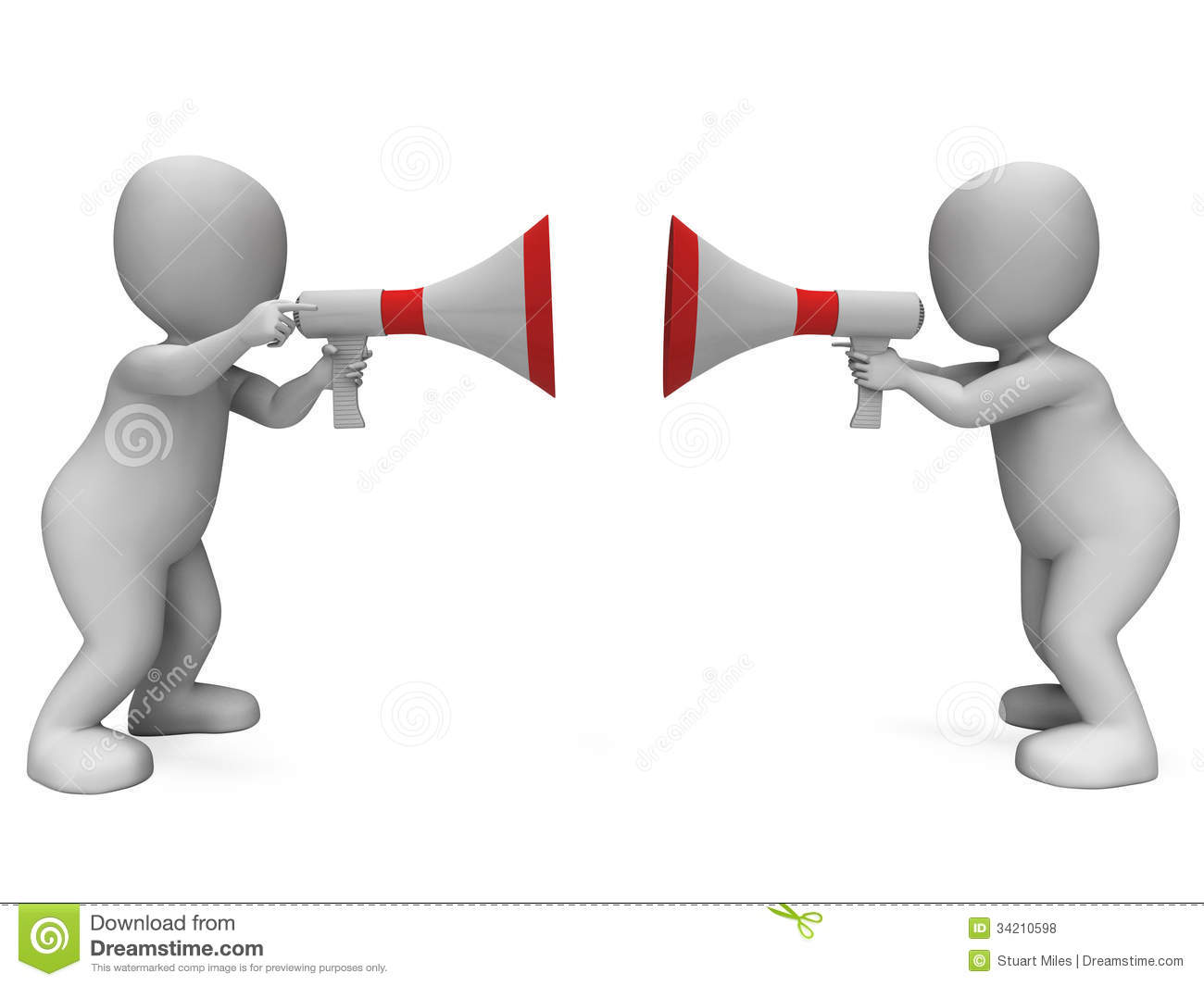 Arguing Characters Shows Disagreement Royalty Free Stock Photos ...