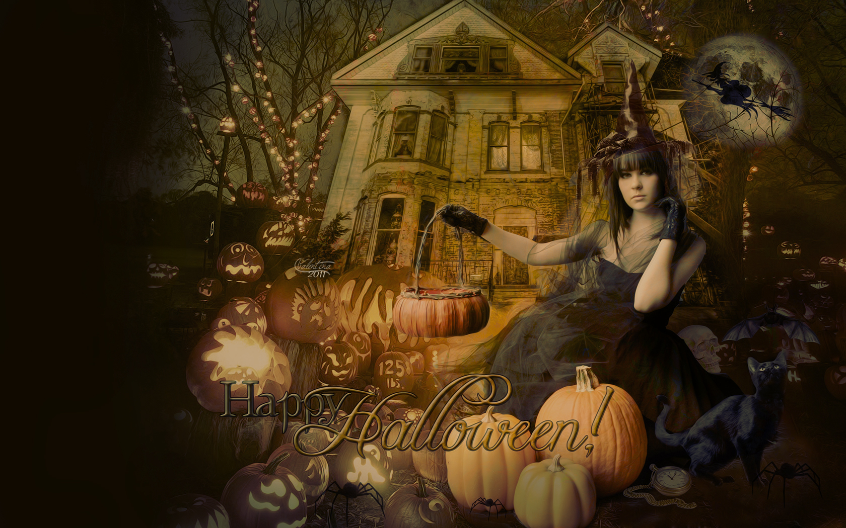 Happy Halloween! - Halloween Wallpaper (26135629) - Fanpop