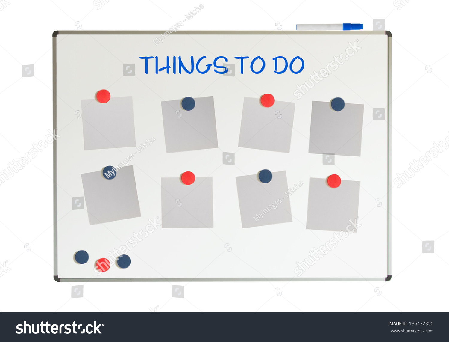 Things To Do On A Whiteboard, Isolated On A White Background Stock ...