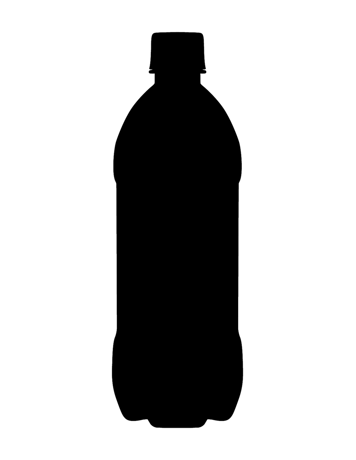 This is the silhouette of a typical soda bottle you get out of a ...