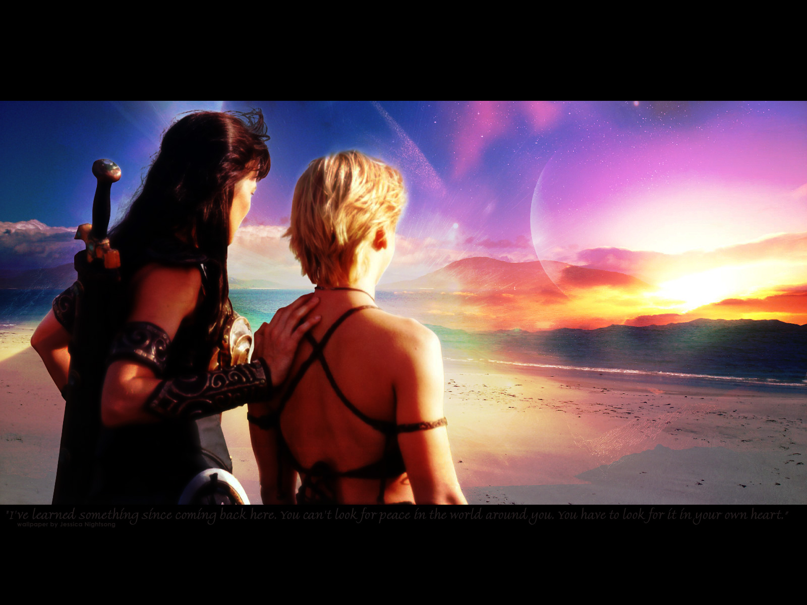 Xena & Gabrielle images Xena & Gabrielle HD wallpaper and background ...