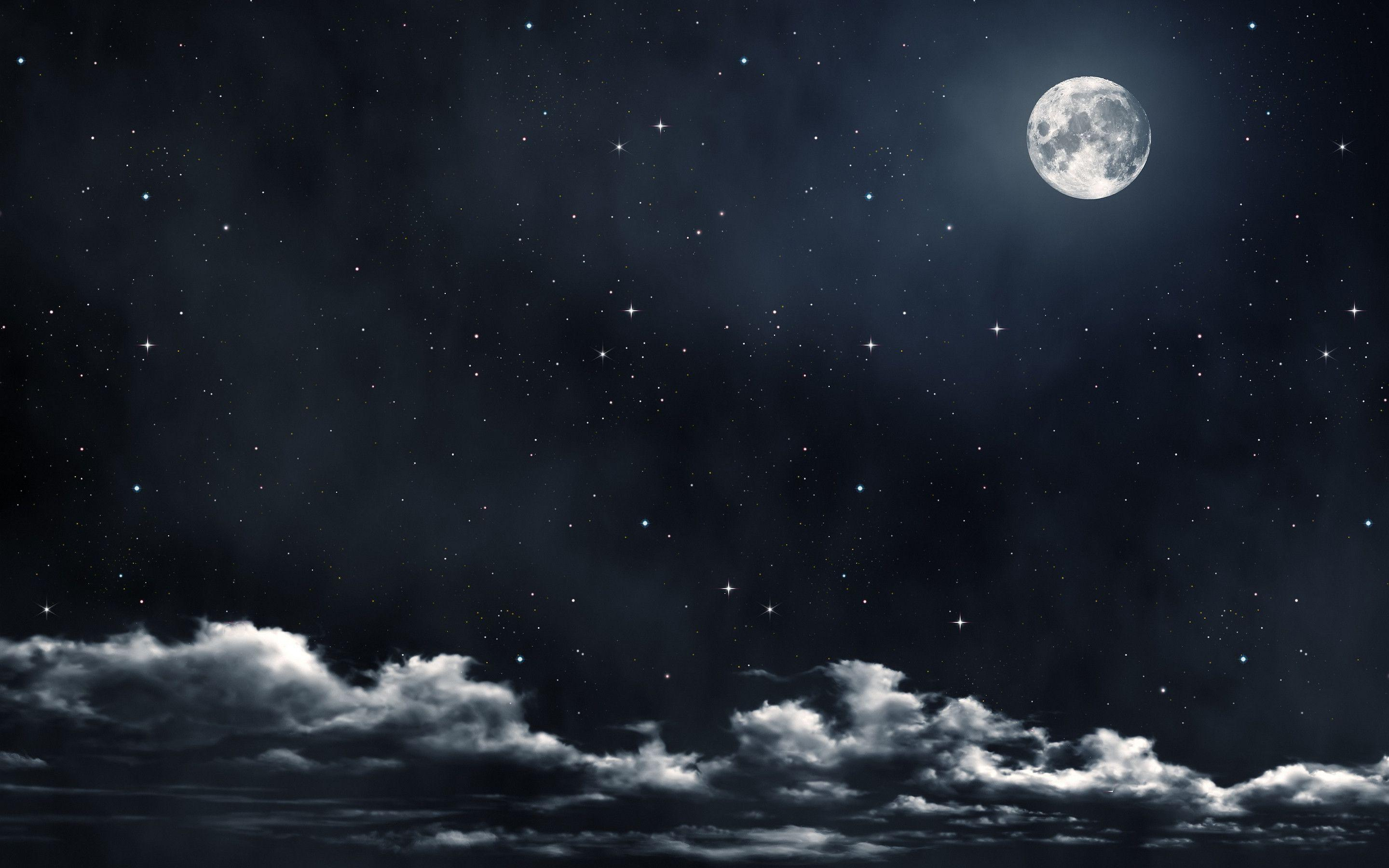 Moon And Stars Wallpaper Photos 47926 HD Pictures   Top Background ...
