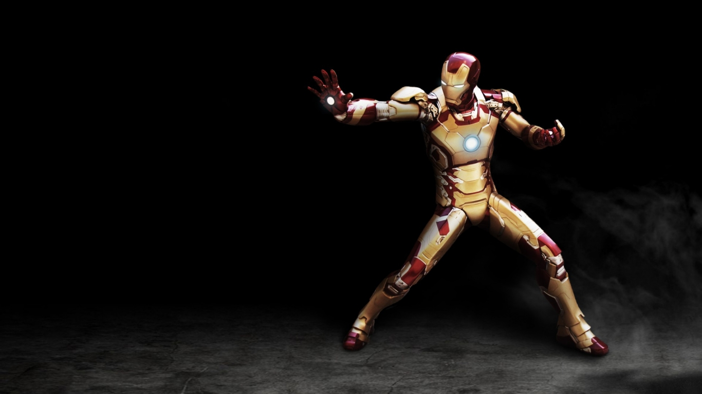 Iron Man Hd Wallpaper With 1366x768 Resolution Pictures to pin on ...