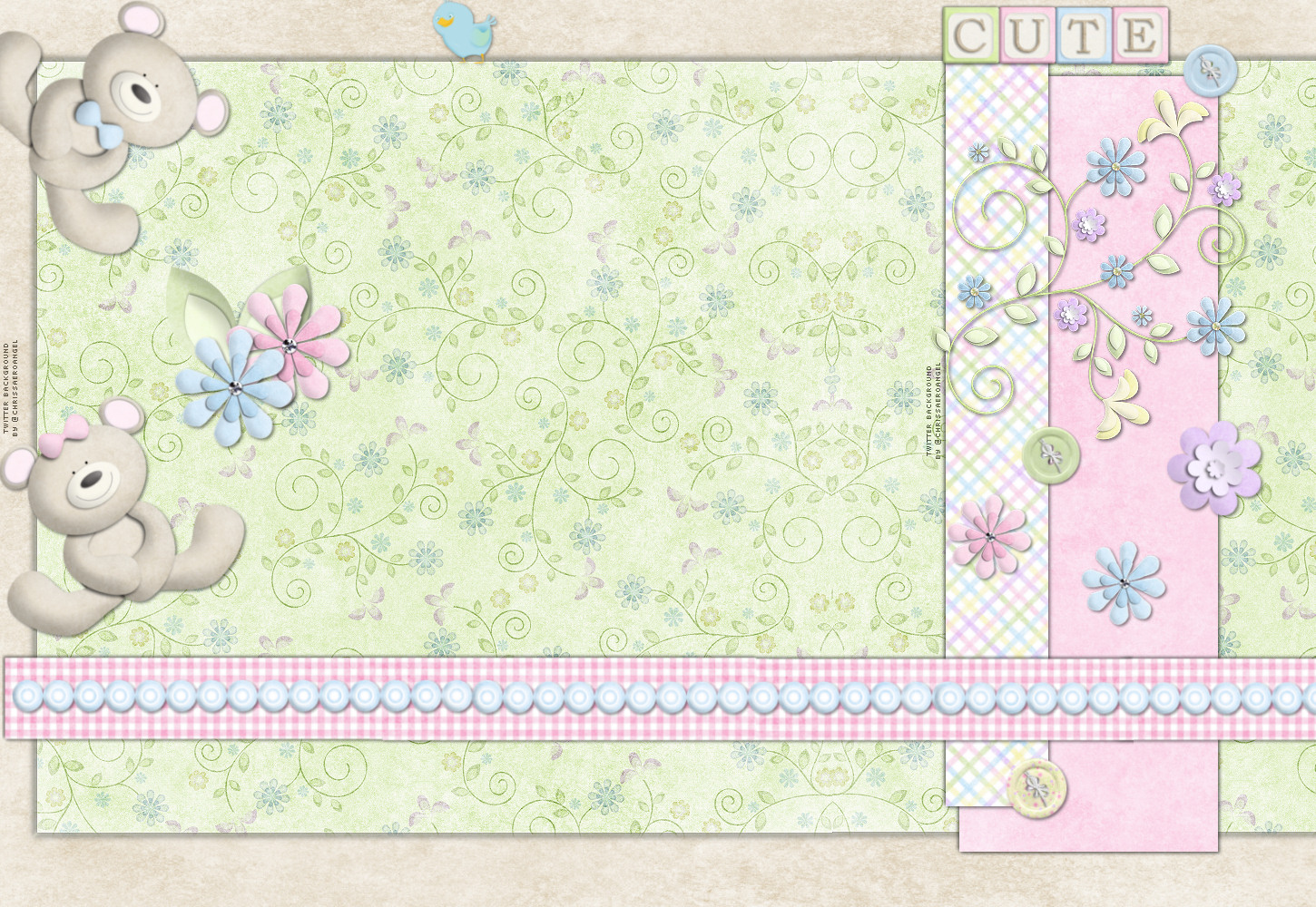 Baby Bears Twitter Backgrounds, Baby Bears Twitter Themes HTML code