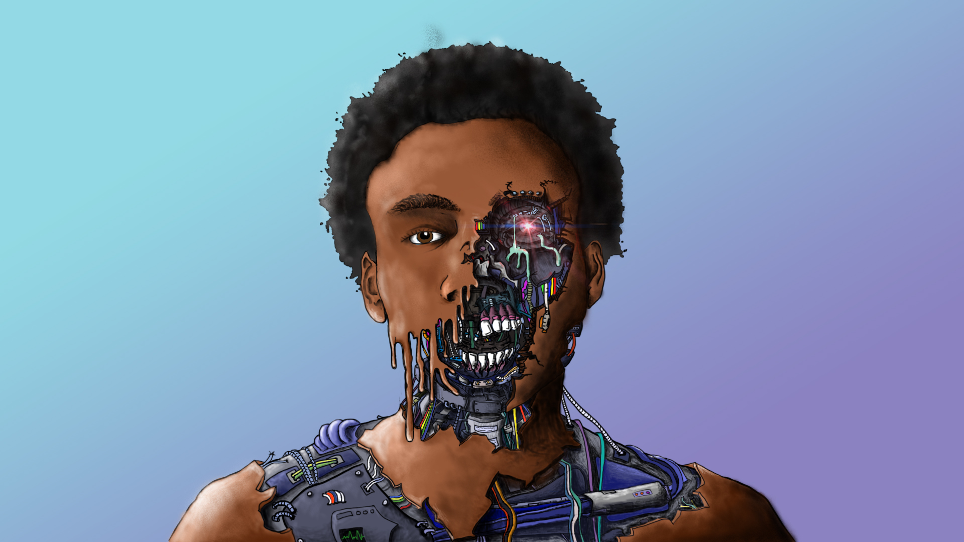 Childish Gambino Cyborg by brycecoulson on DeviantArt