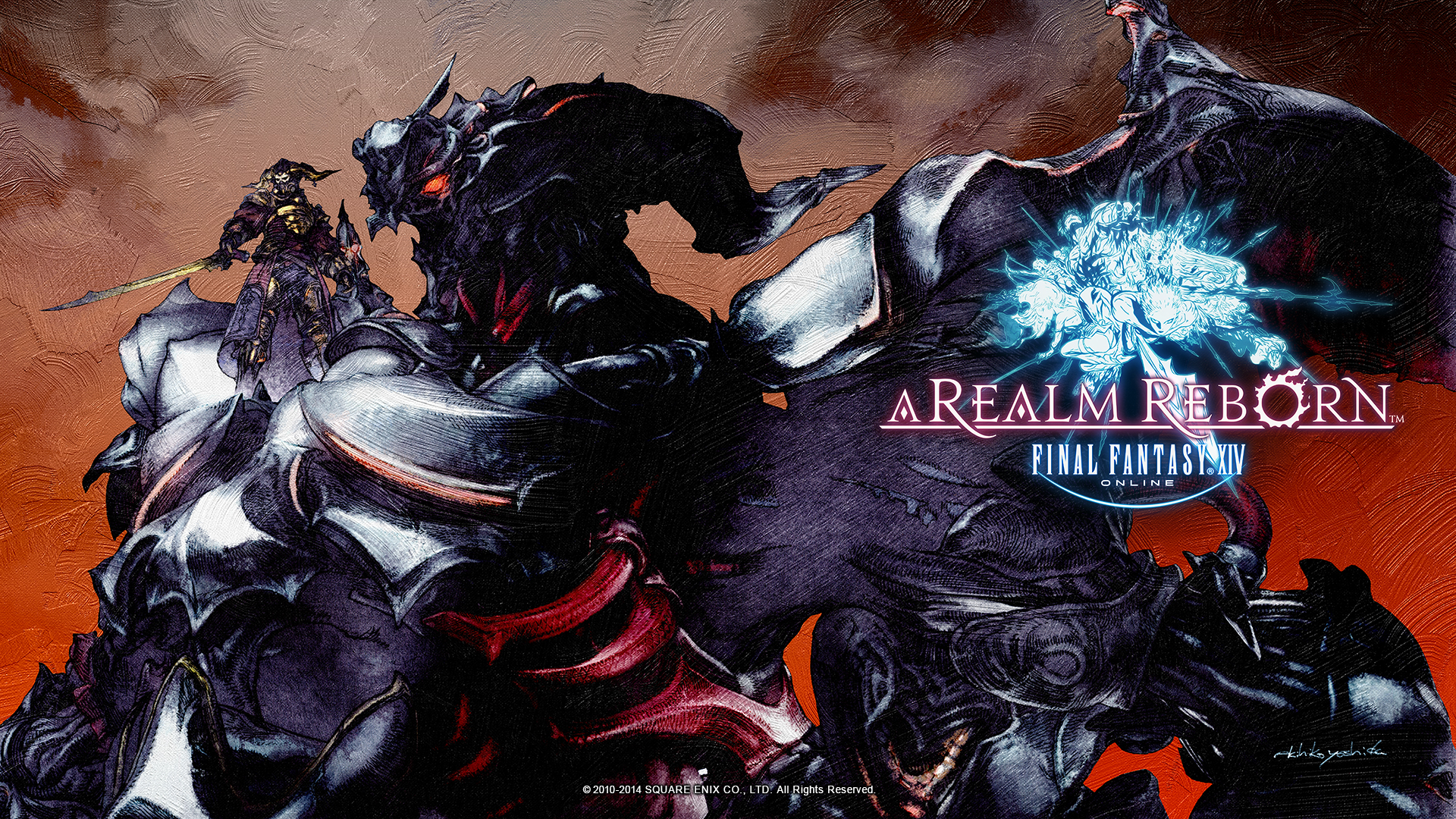 ... Fantasy XIV: A Realm Reborn Wallpapers Featuring Gaius and Bahamut