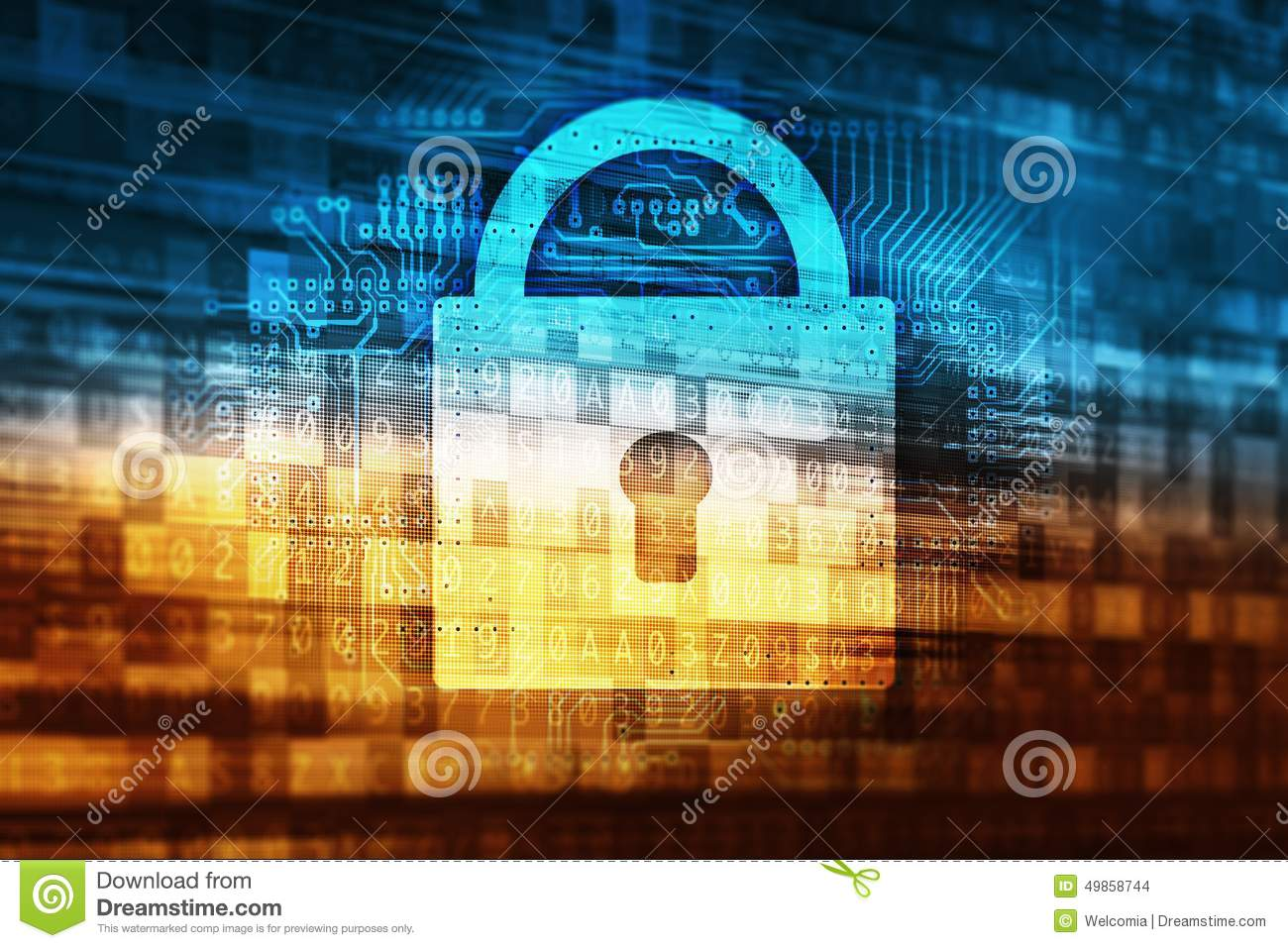 Password Data Safety Abstract Internet Technology Concept Illustration ...