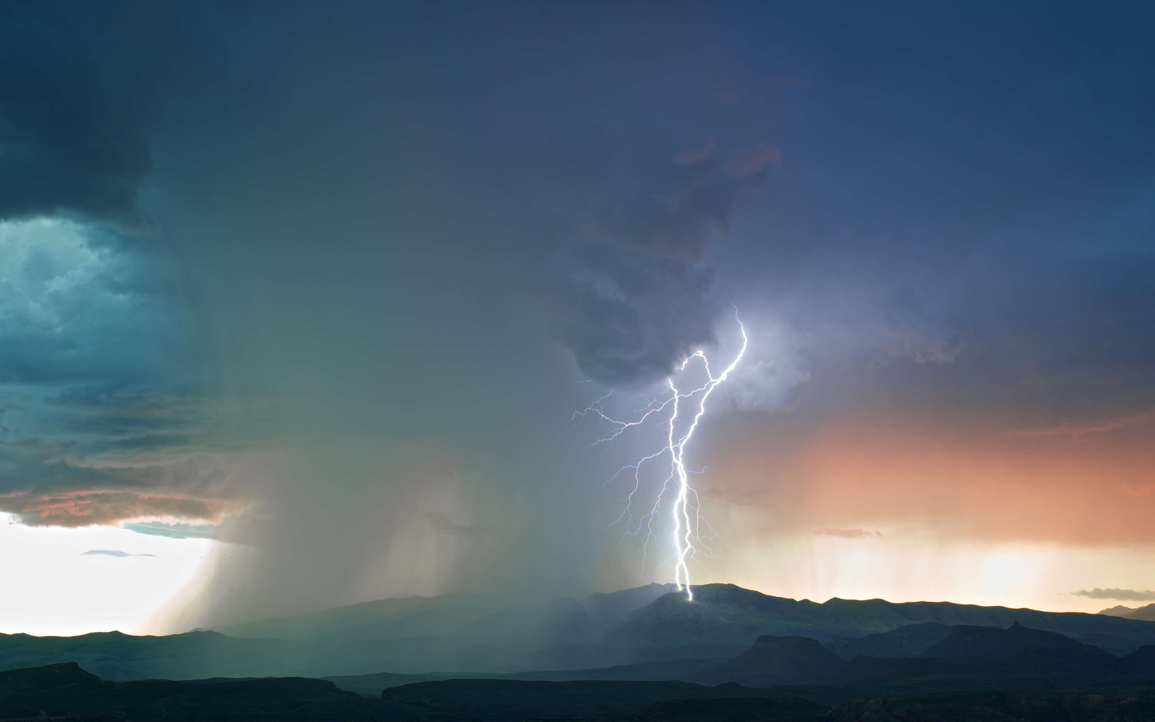 Sunset during a thunderstorm wallpapers and images - wallpapers ...