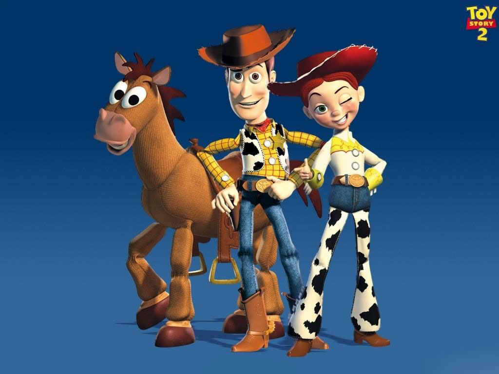 Woody Jessie And Bullseye Wallpaper 1024×768 - Toy Story Wallpapers