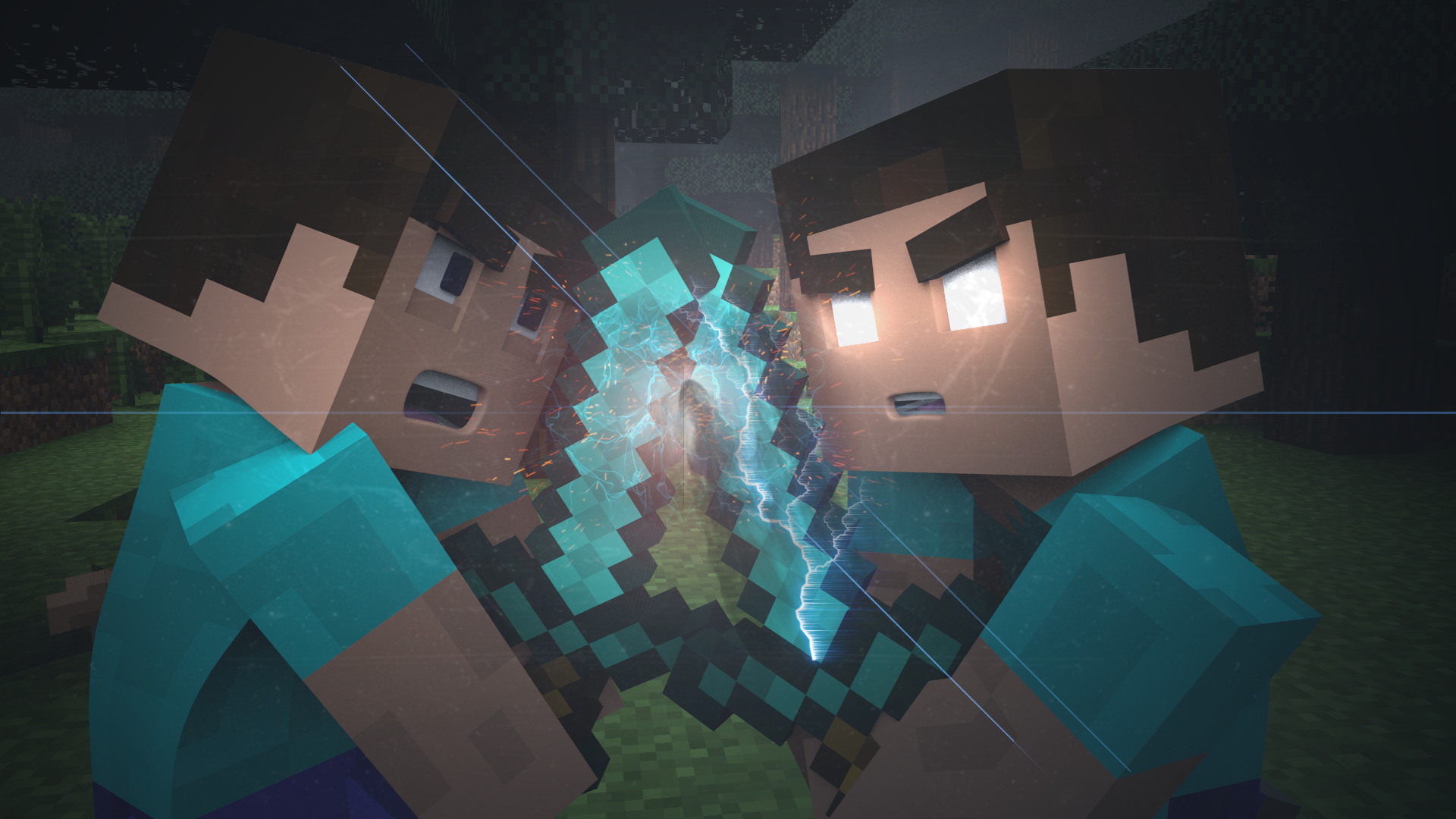 Pics Photos - Minecraft Wallpaper Herobrine Vs Steveherobrine ...