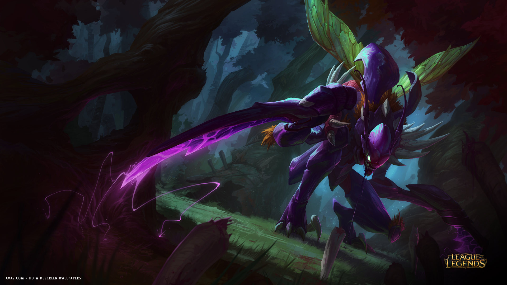 ... lol kha zix monster wings hd widescreen wallpaper / games backgrounds