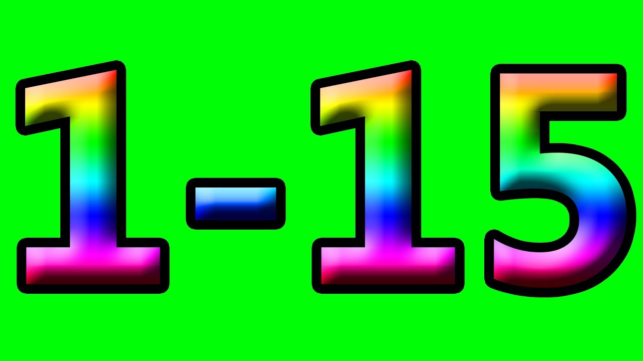 Super Simple Learning to Count to 15 Counting 1-15 Rainbow Numbers ...
