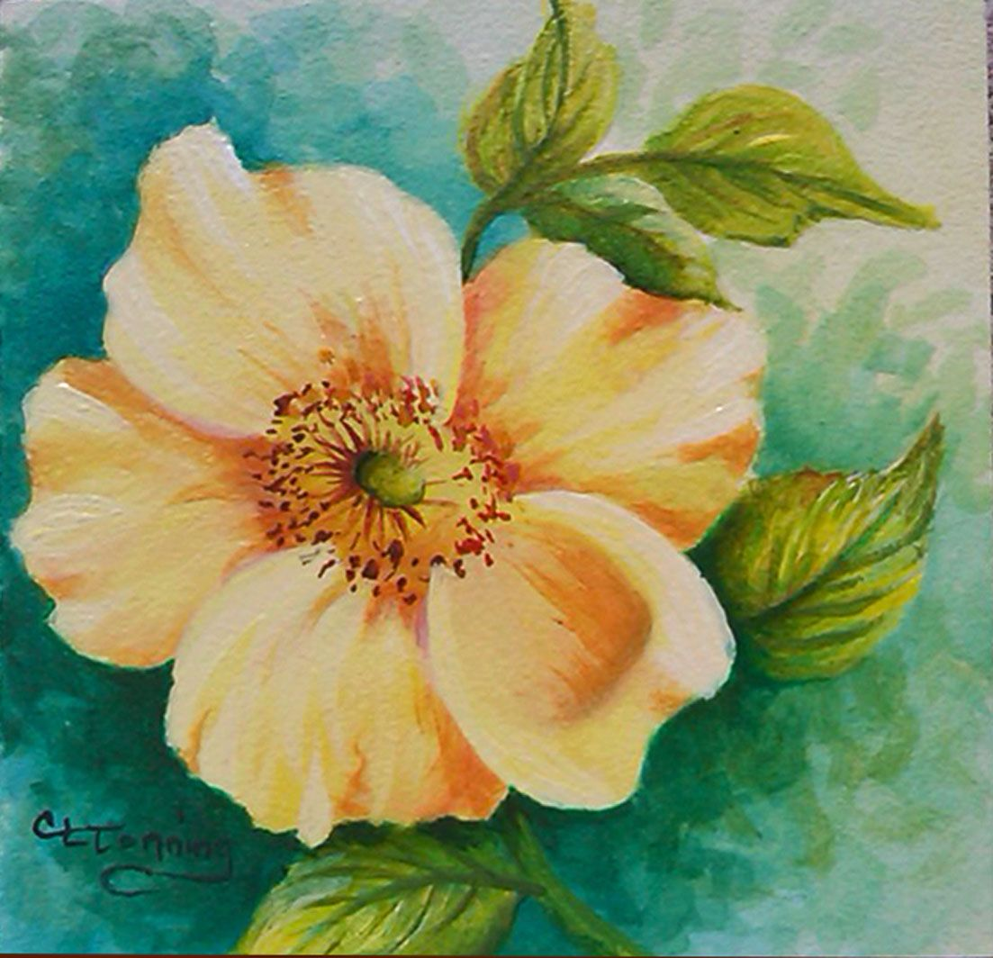 Acrylic Flower Paintings Wallpapers - Masswallpapers - Best wallpaper ...