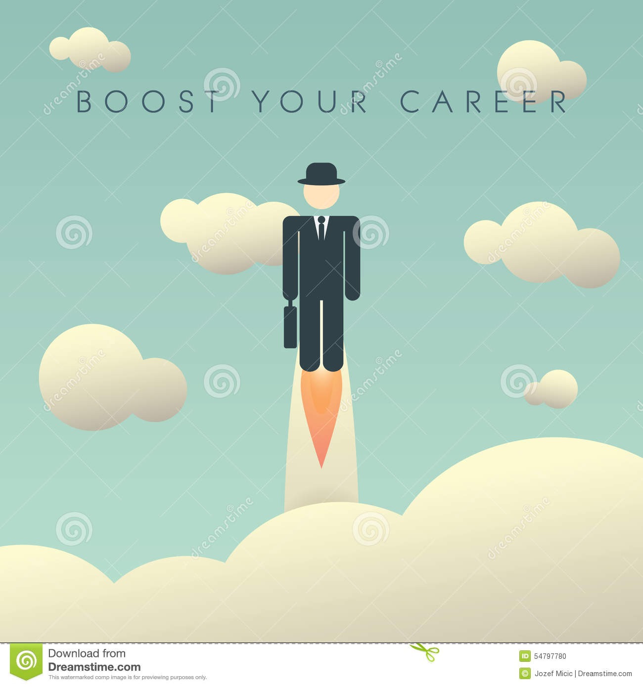 Career Development Poster Template With Stock Vector - Image: 54797780