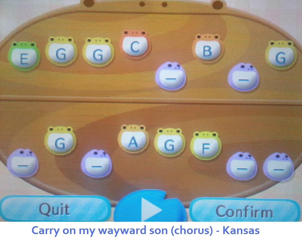 Town tune for Animal Crossing. 'Carry on my wayward son' (chorus) by ...