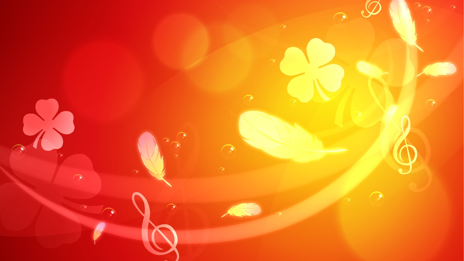 Free Floral Light Orange Backgrounds For PowerPoint - Music PPT ...