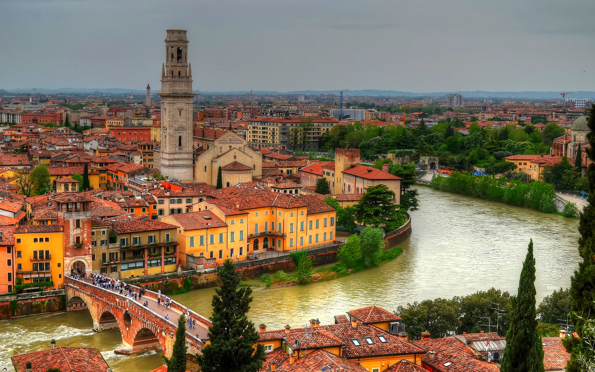 Beautiful Verona, Italy - HD wallpaper download. Wallpapers, pictures ...