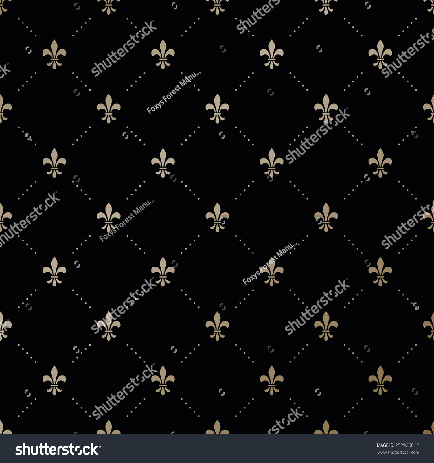 ... With Fleur-De-Lis On A Black Background - 252925012 : Shutterstock