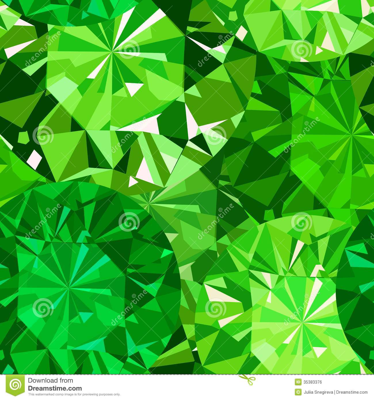 Gem Seamless Pattern. Emerald Pattern Background. Royalty Free Stock ...