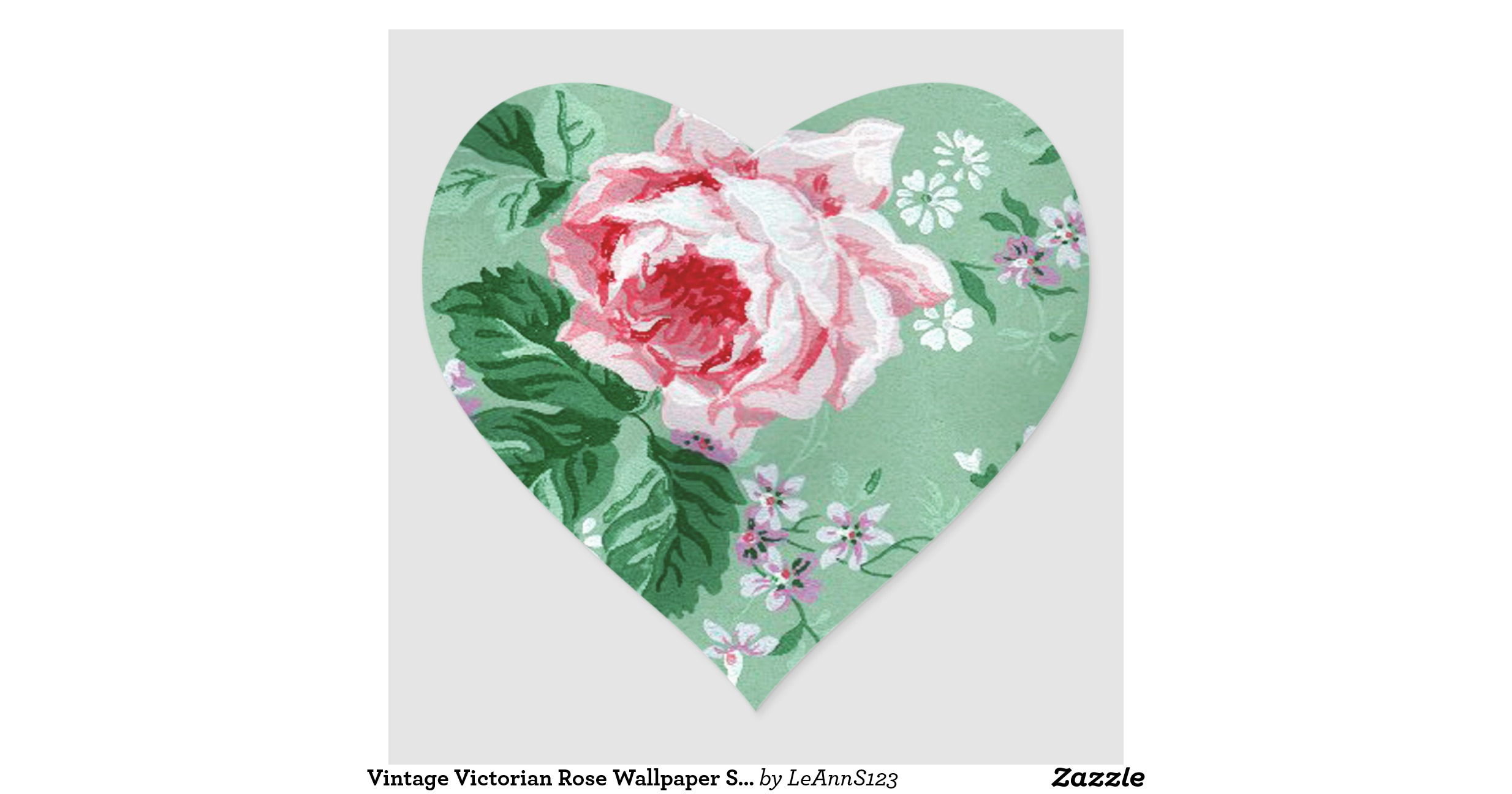 vintage_victorian_rose_wallpaper_sticker ...