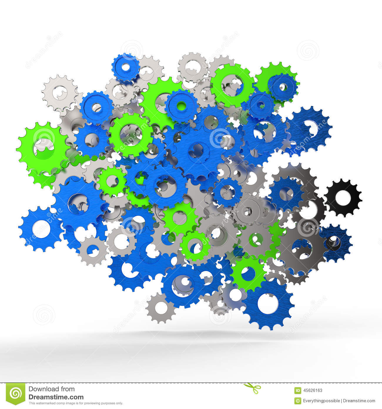 3d Cog Gear On White Background Stock Illustration - Image: 45626163