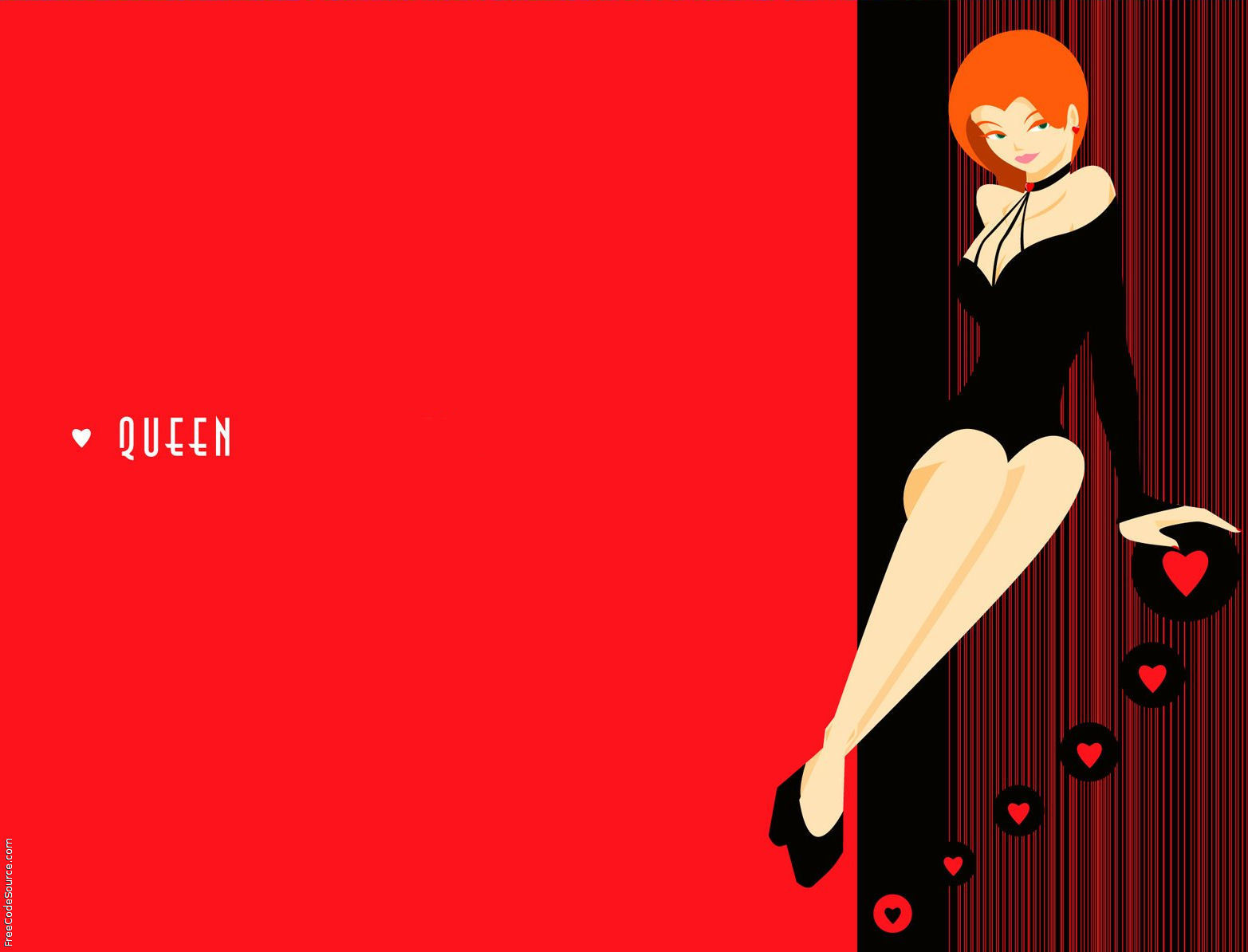 Queen Of Hearts Twitter Backgrounds, Queen Of Hearts Twitter Layouts ...
