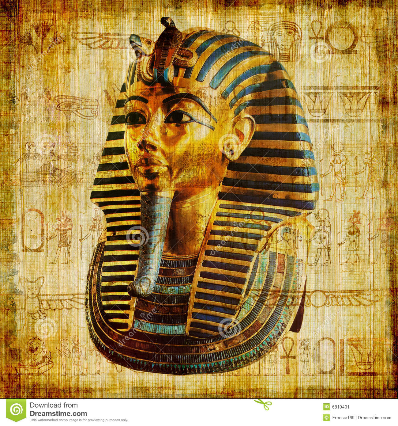 Egyptian Background Stock Image - Image: 6810401