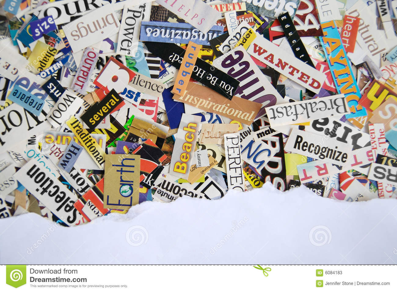 Torn Paper Magazine Background Stock Photos - Image: 6084183