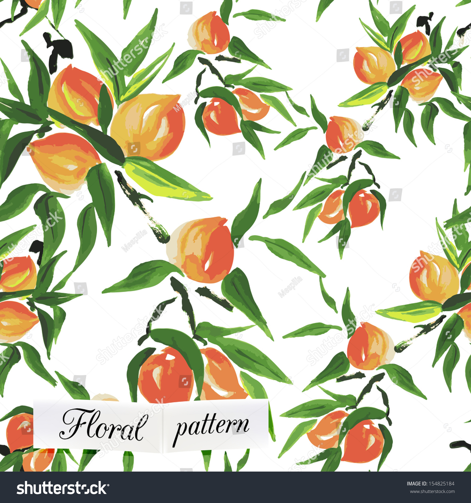 peach seamless pattern can be used for wallpaper, website background ...